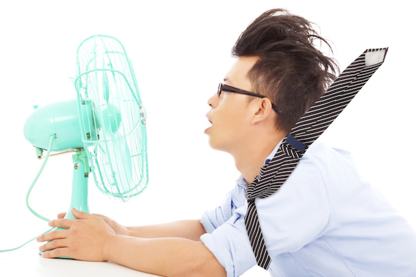 夏バテ扇風機