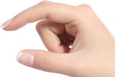 指毛のない手