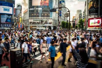 東京の人混み