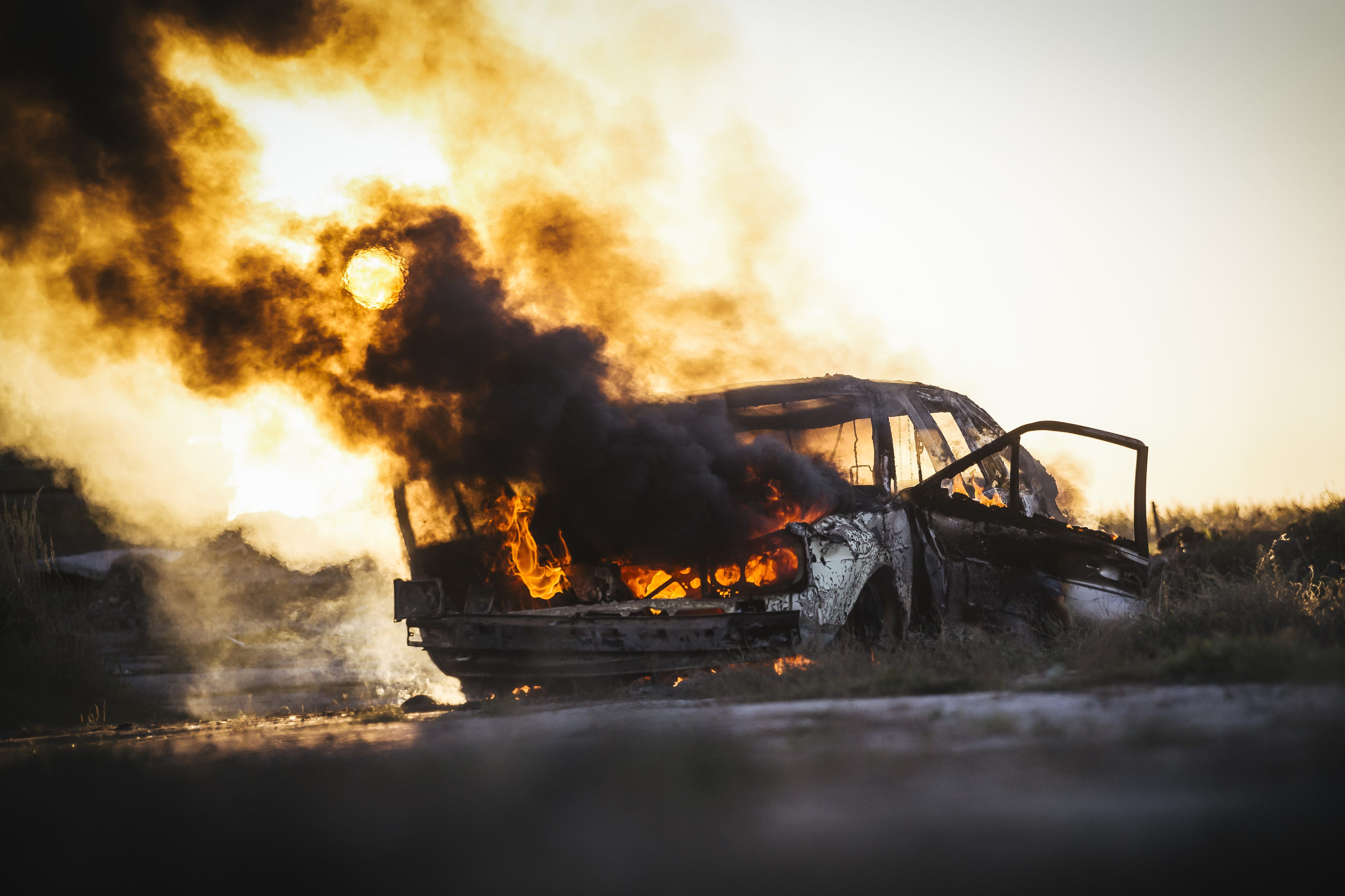 自動車火災