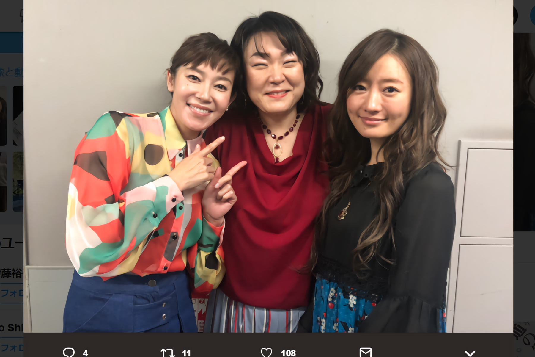 須藤理彩、久保田磨希、松本まりか