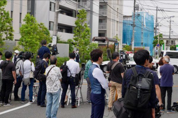 川崎刺傷事件、報道陣