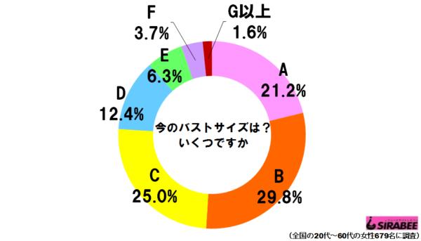 バストサイズグラフ