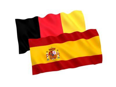 ベルギー・スペイン国旗