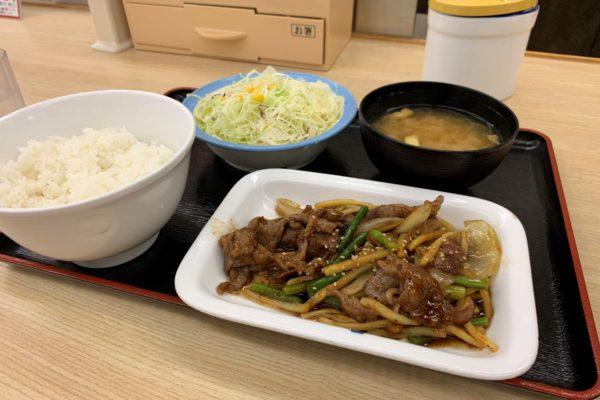 牛肉と筍とオイスター炒め