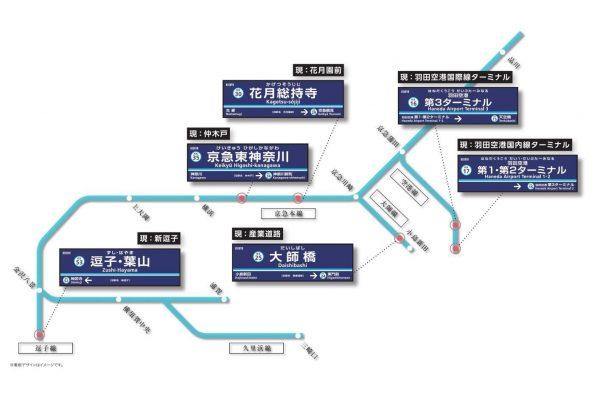 京浜急行電鉄駅名変更
