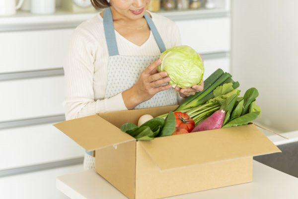 主婦と野菜