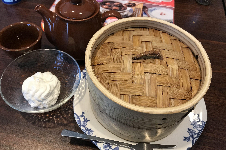 ほうじ茶の蒸籠蒸しシフォン