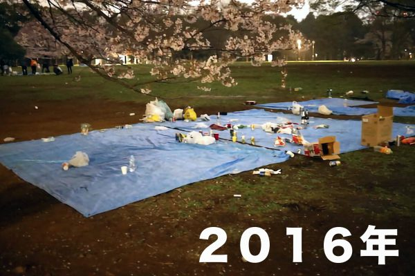 花見・代々木公園・2016年