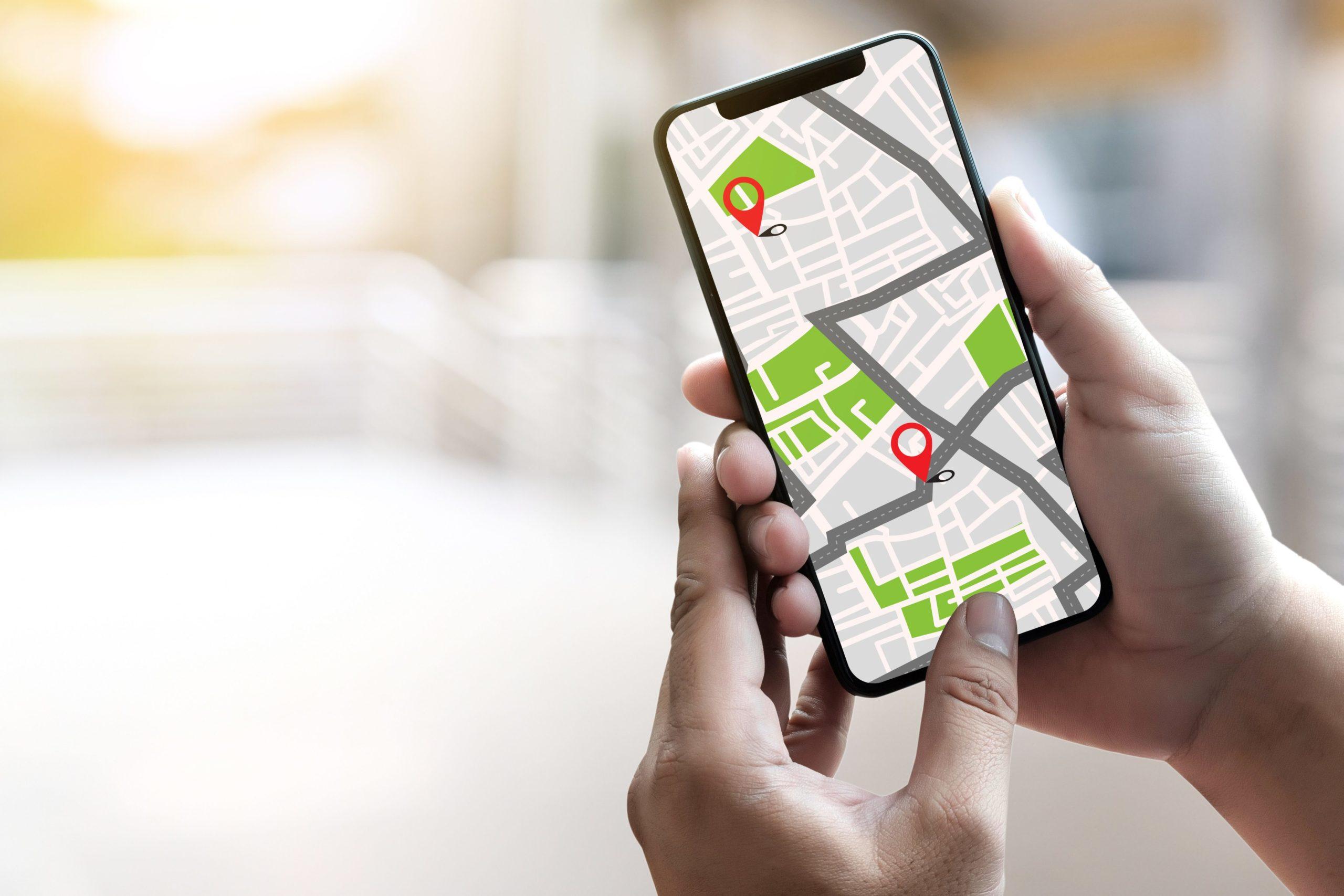 マップアプリ・スマホ・地図