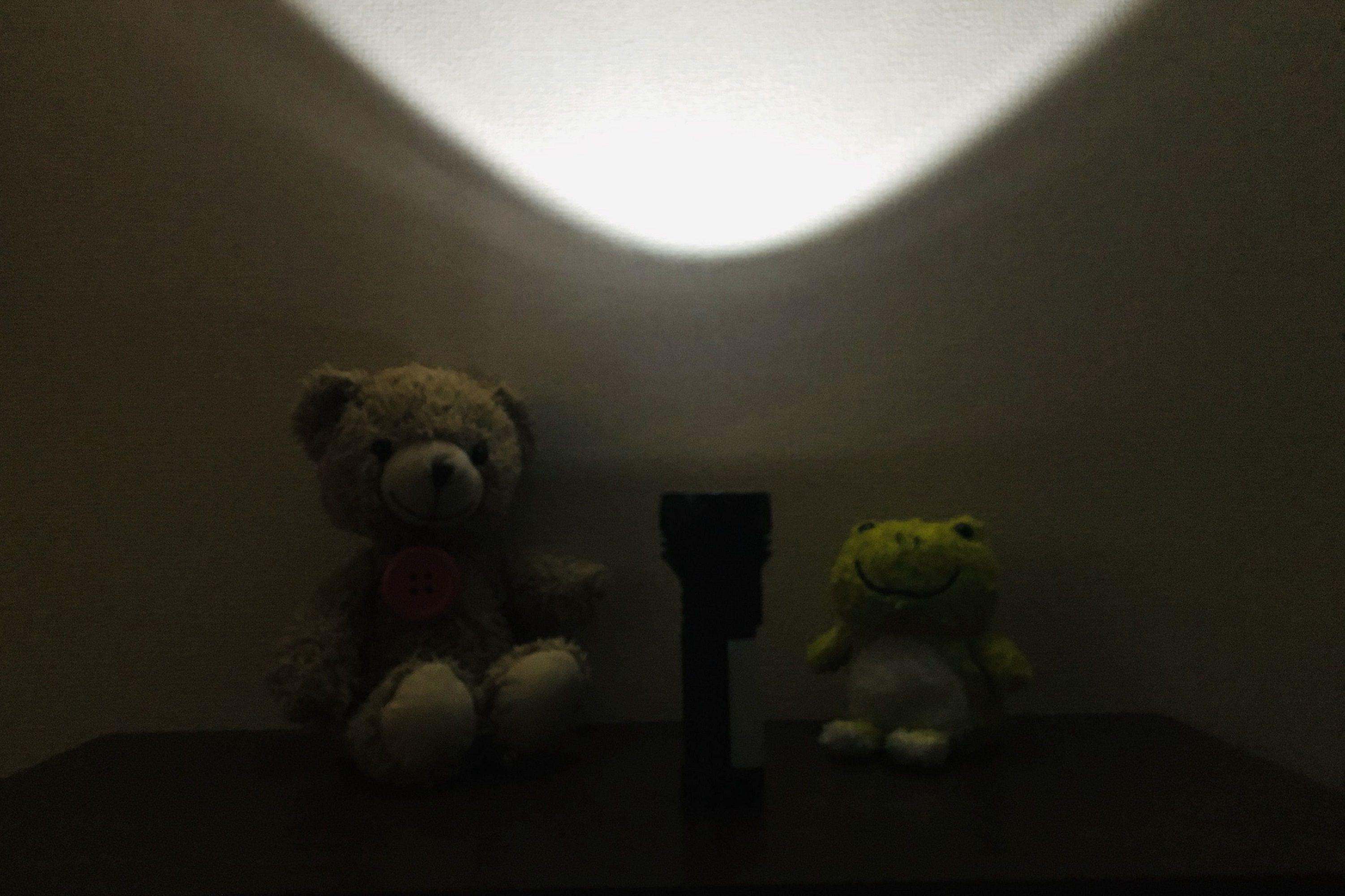 懐中電灯の灯り