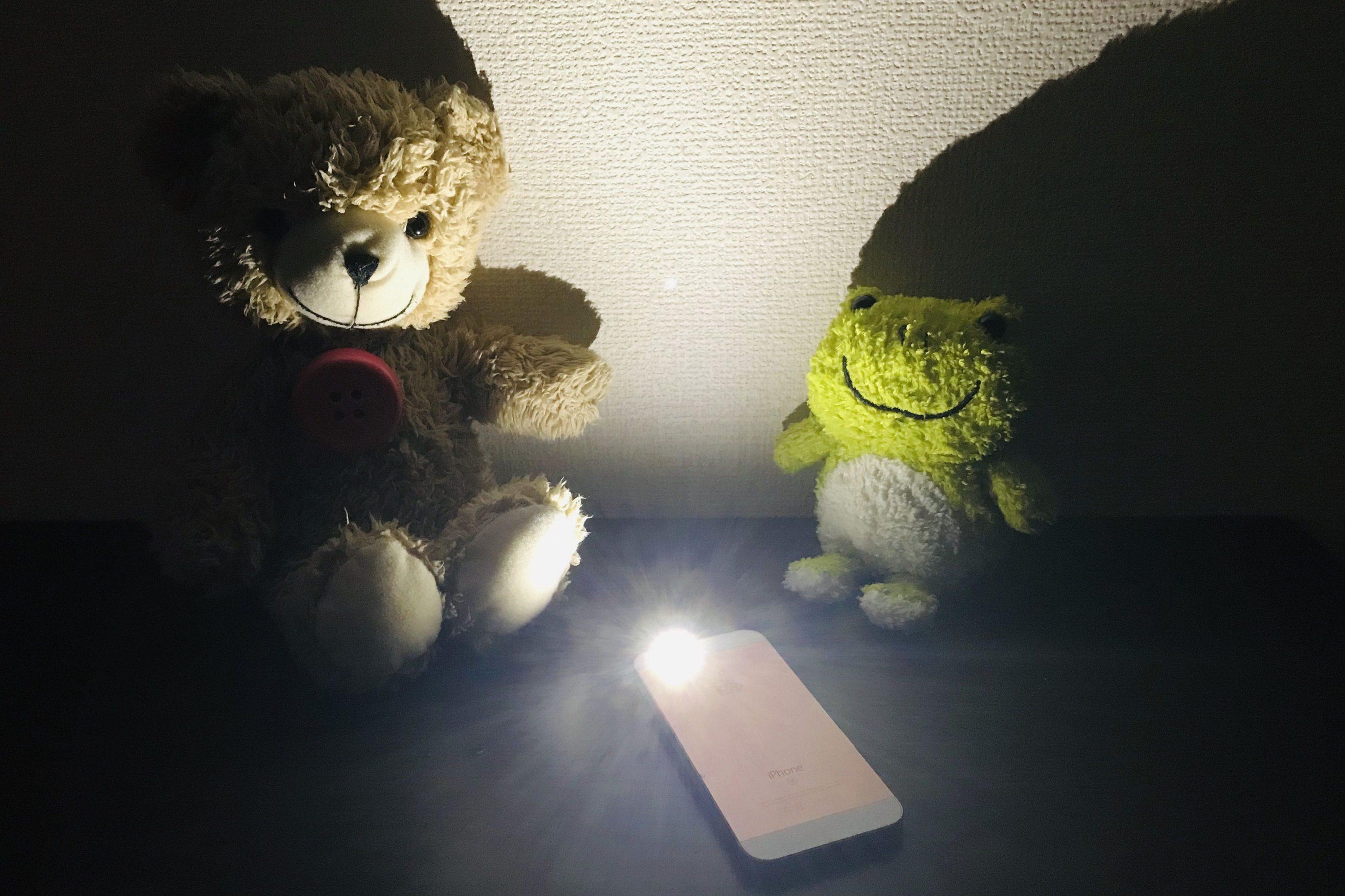 スマートフォンのライト