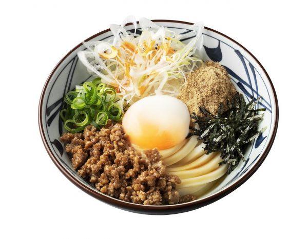 丸亀製麺「旨辛月見まぜ釜玉うどん」