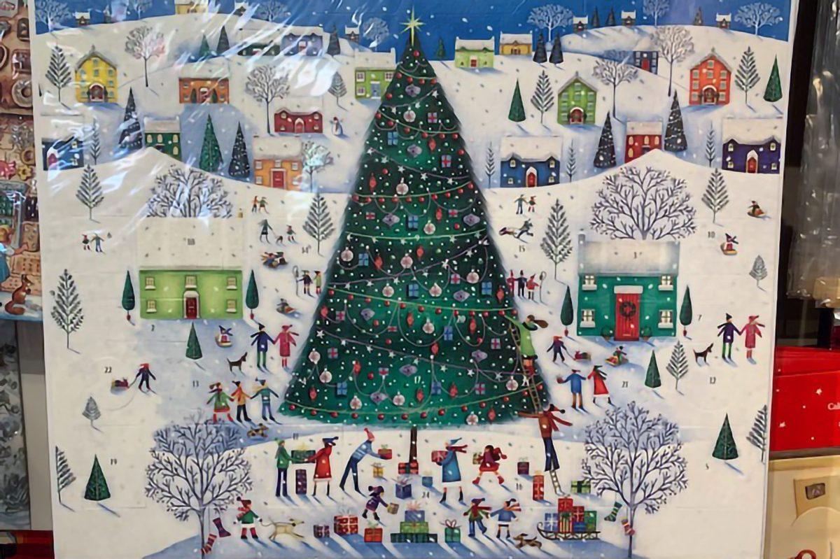クリスマスツリー絵