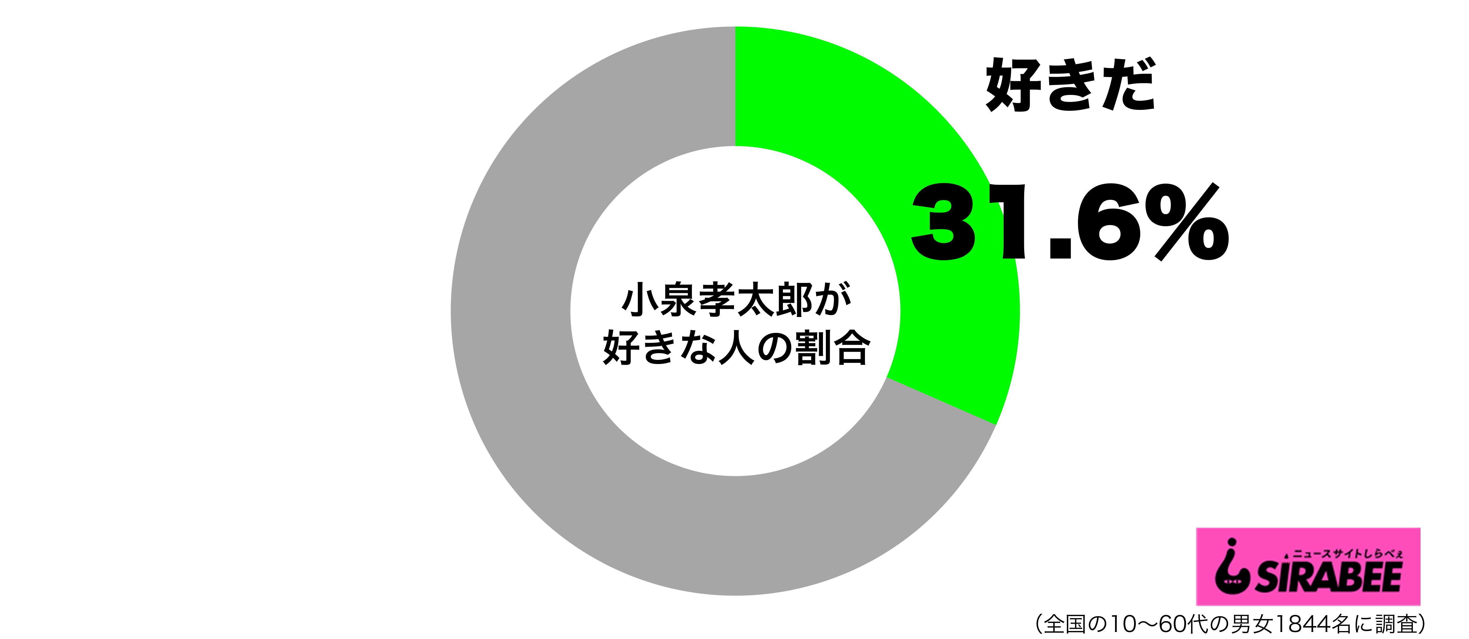 小泉孝太郎が好きグラフ