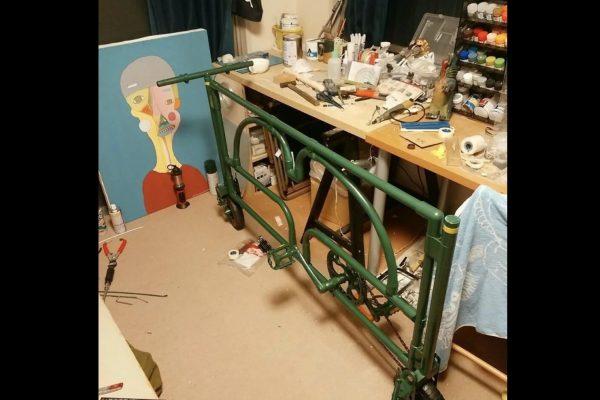 ガードレール 自転車