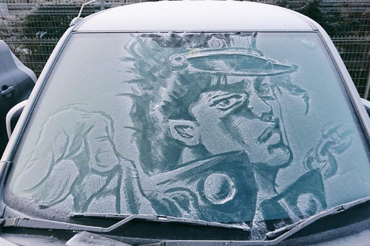 寒さ厳しい冬の朝、どう見ても近距離パワー型の車が誕生して話題に