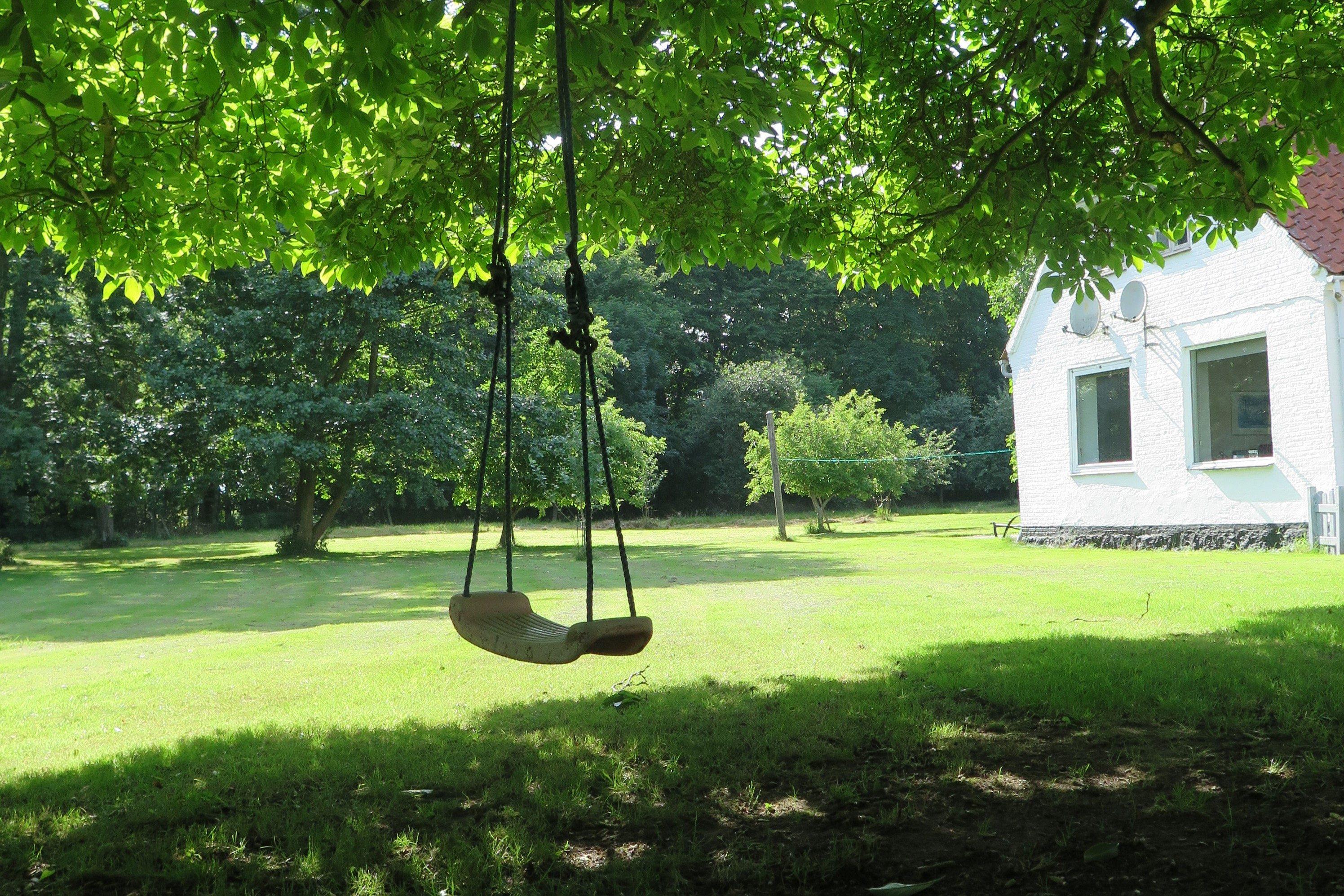 ブランコ・ロープ・庭