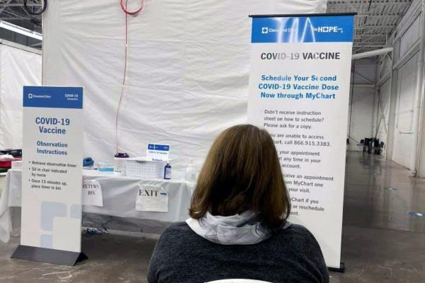 新型コロナワクチン接種・米オハイオ州クリーブランド大学病院