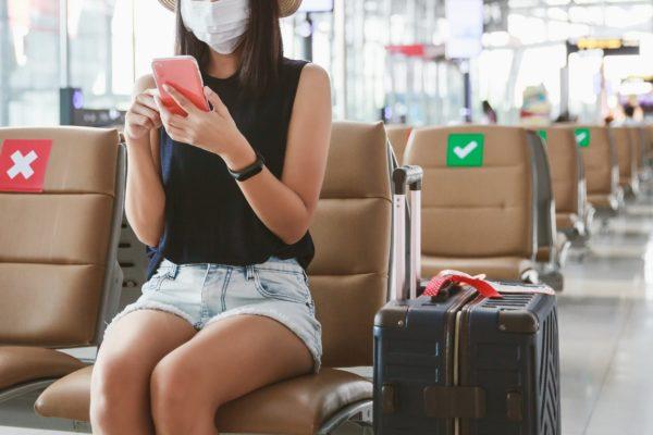 空港・マスク・コロナ・新型コロナウイルス・新型コロナ・旅行