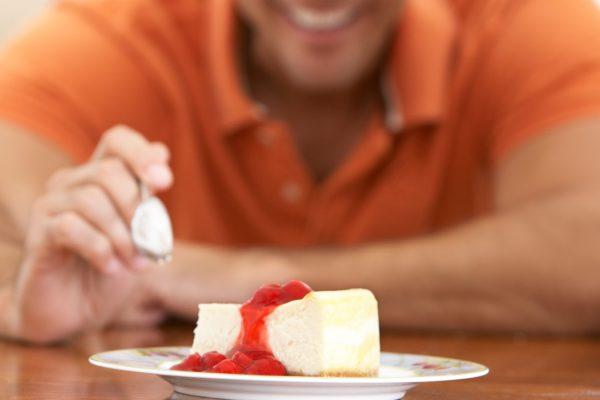チーズケーキ・ケーキ・男性