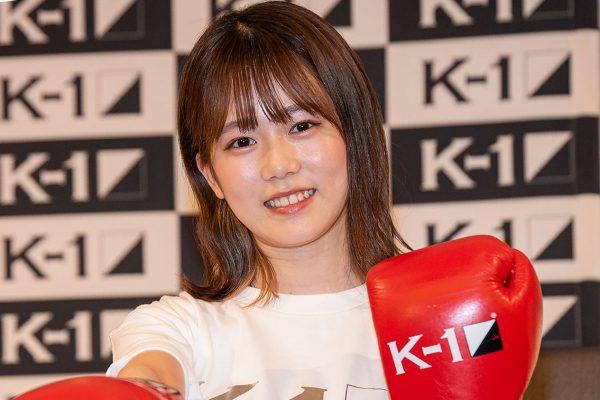 川口葵、レザーミニスカ姿で華麗な右パンチ 「Kー1甲子園」応援サポ就任