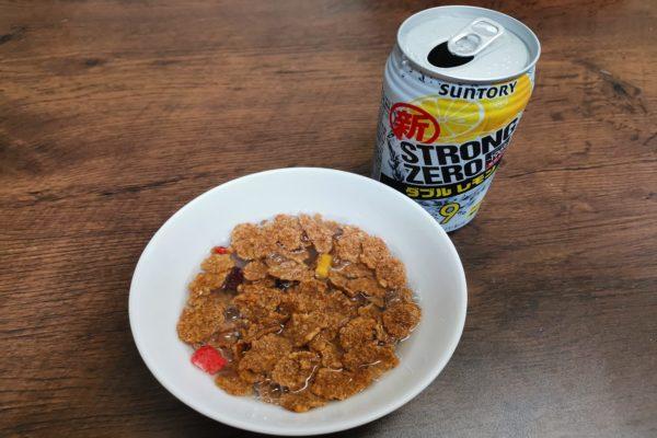 ストロングゼロを牛乳代わりに使う『ストロングシリアル』 気持ち良い朝になる味