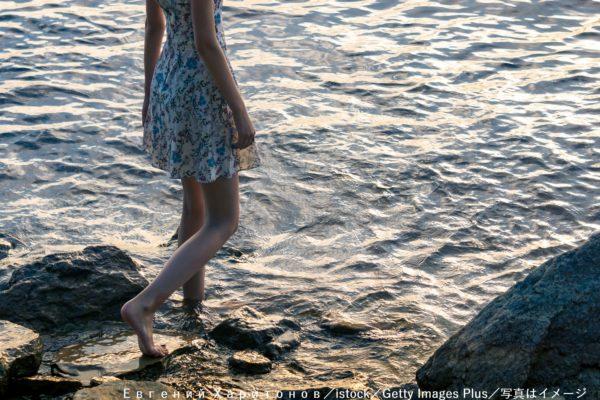 少女・女の子・海・川