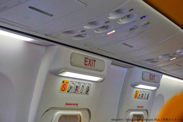 飛行機・旅客機・緊急脱出口・出口