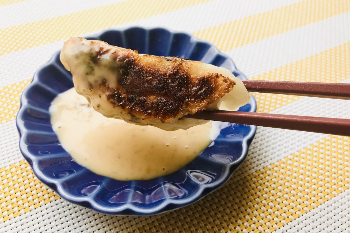 焼き餃子+ごまドレ
