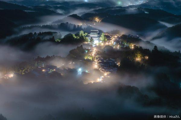 現実世界とは思えないほど美しい山里の夜景 「本当に絵かと思いました」