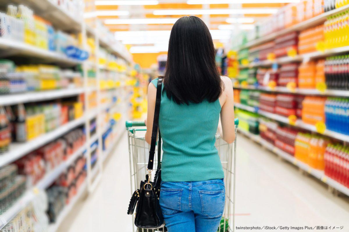スーパー・食料品店・買い物・買い物客