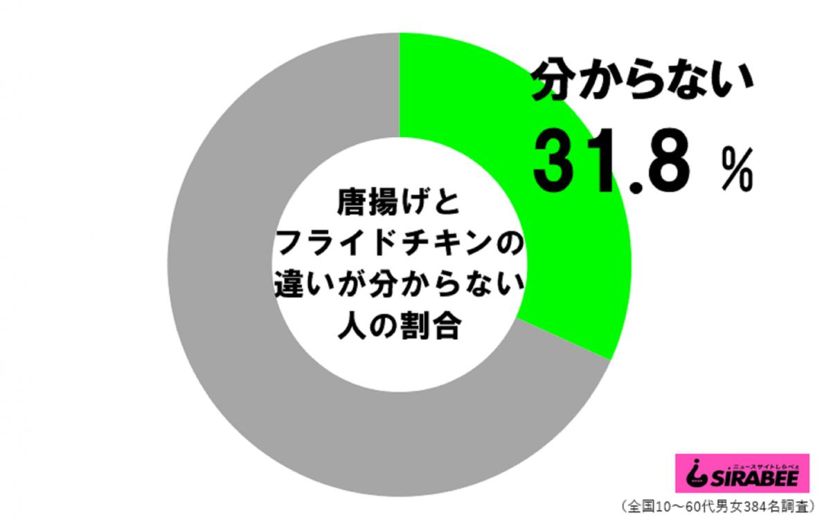 唐揚げとフライドチキンの違い_円グラフ