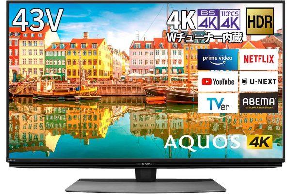 シャープ 43V型液晶テレビ AQUOS 4T-C43CL1