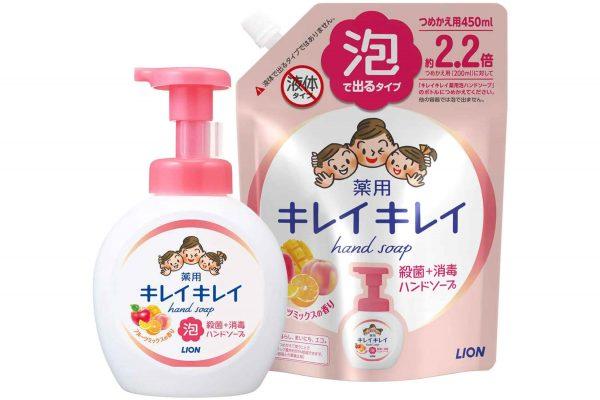 ライオン キレイキレイ 薬用 泡ハンドソープ フルーツミックスの香り 本体大型ポンプ500ml + 詰め替え450ml
