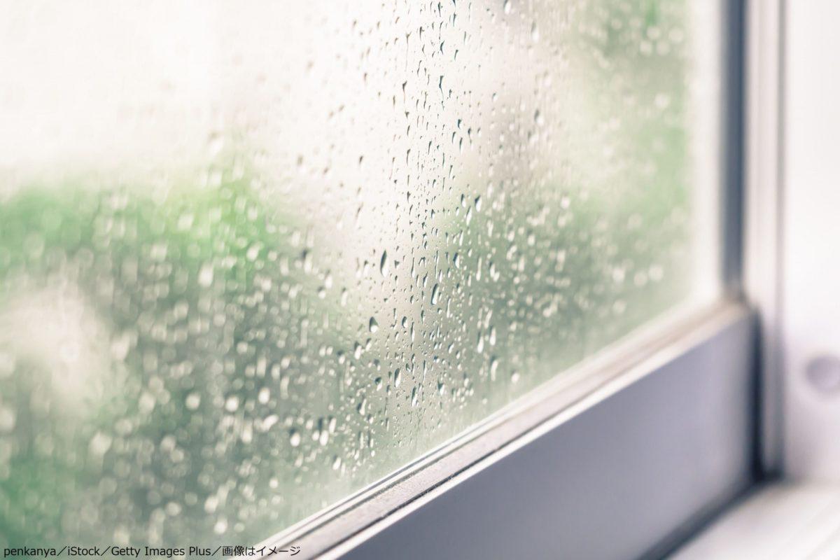雨の日の窓辺